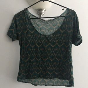 Rachel Roy Patterned Crop